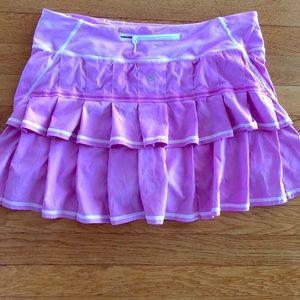 Lululemon tennis skirt hidden pocket in shorts
